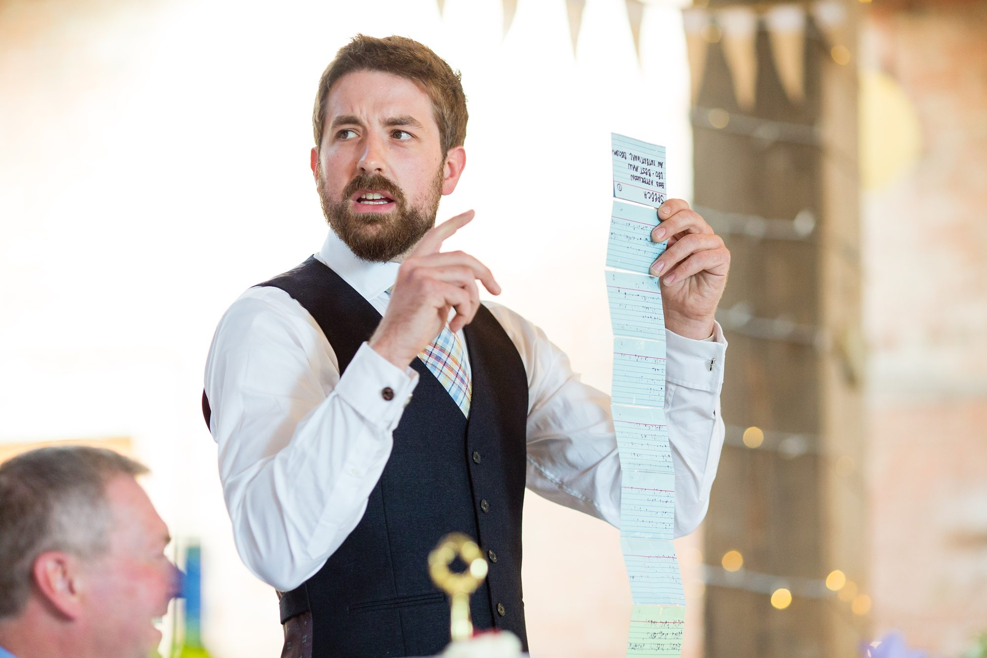 Bearded Groom Speech Advice Long List in York wedding