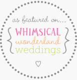 Whimsical Wonderland Weddings Badge with a grey circle