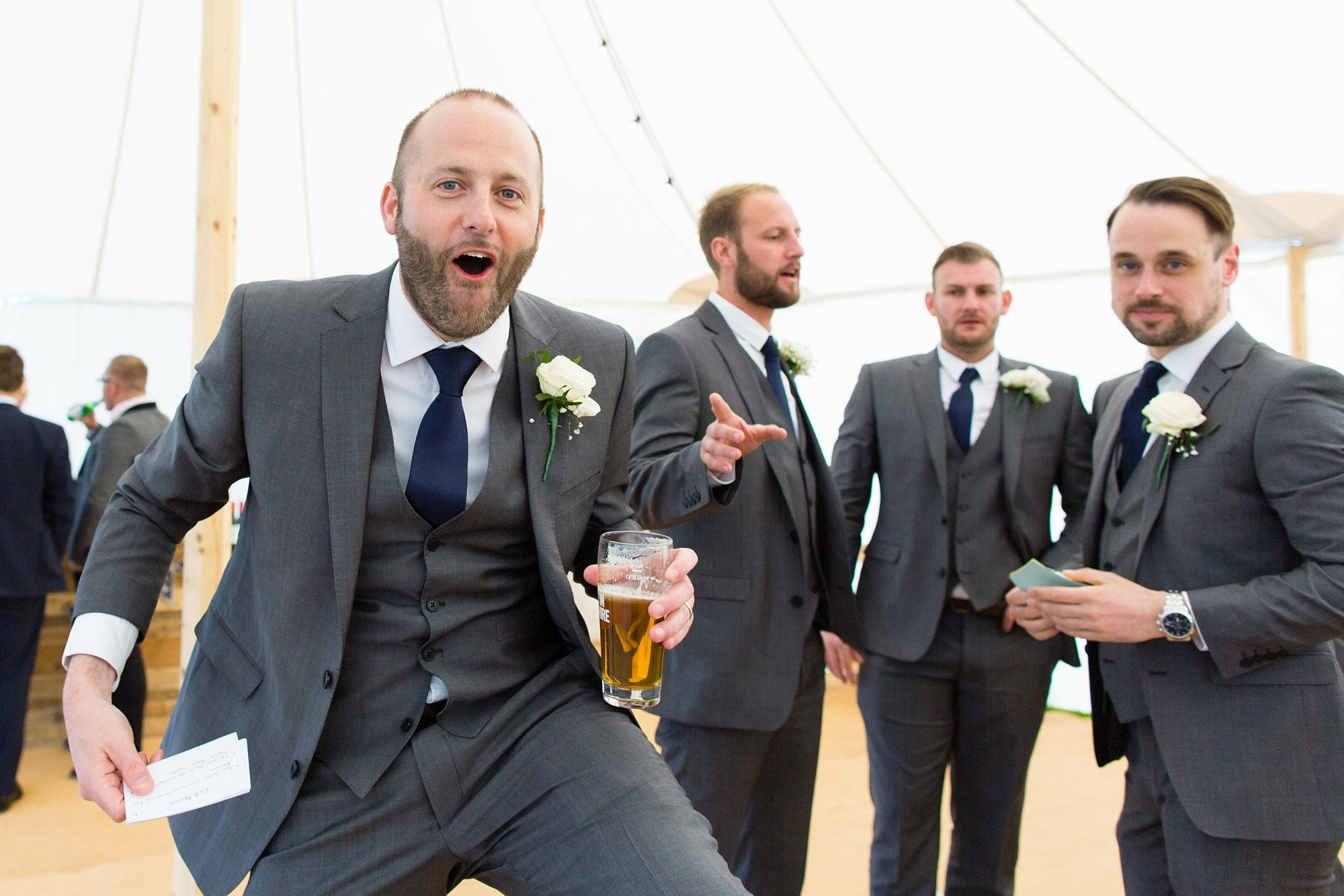 Groom Speech Advice silly beer with groomsmen