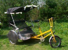 A wedding Rickshaw For Hire