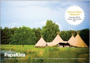 A picture of papa kata tents in an open field
