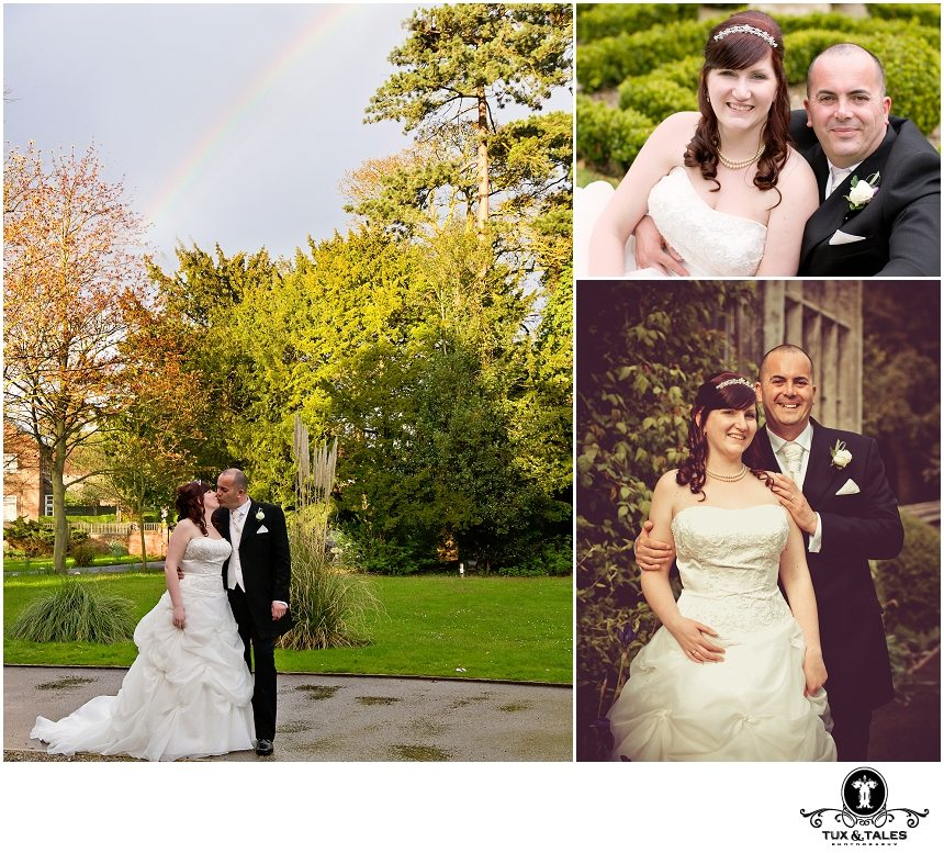 The Parsonage wedding photography with a rainbow