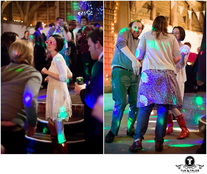 Boho wedding party with funky dancing
