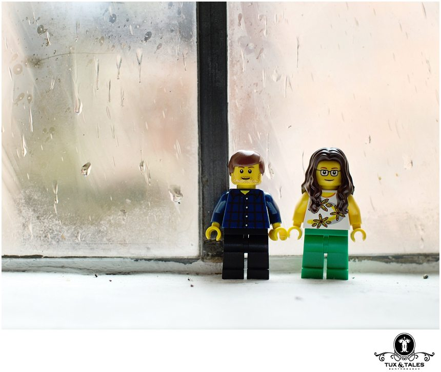 Qirky couple lego people in engagement photography in York