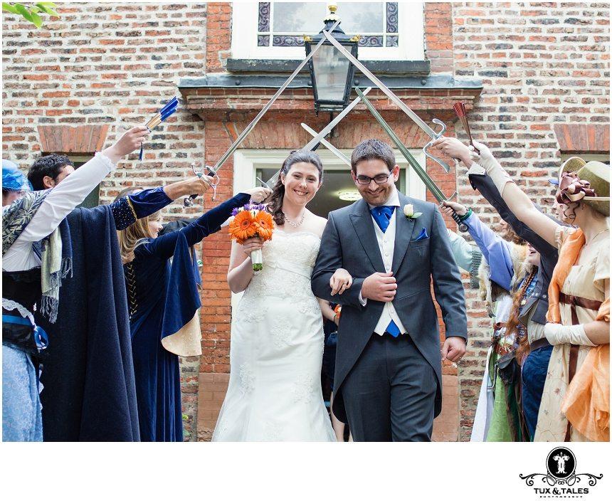 York Unitarian Church Wedding quirky cute couple