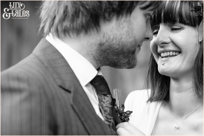 altherative boho wedding couple