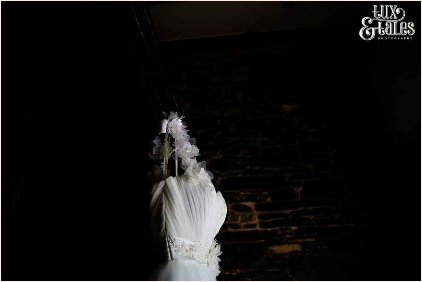 Wedding dress photograph in lake district