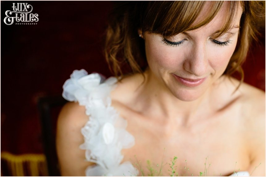 Bride portrait at New House Farm wedding in the Lake Dristrict