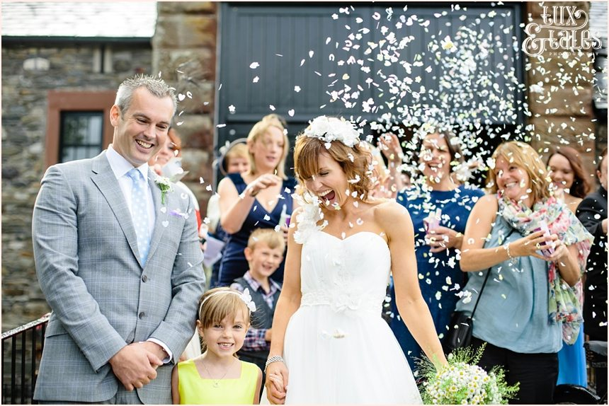 Confetti photograph at New House Farm