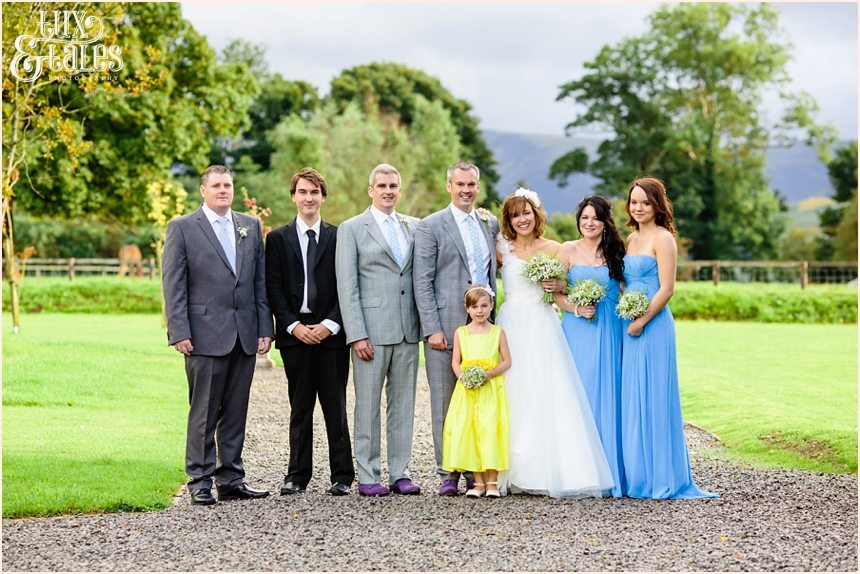 Lake District wedding formal group photography