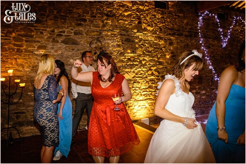 Funny dance photograph at Lake District Wedding