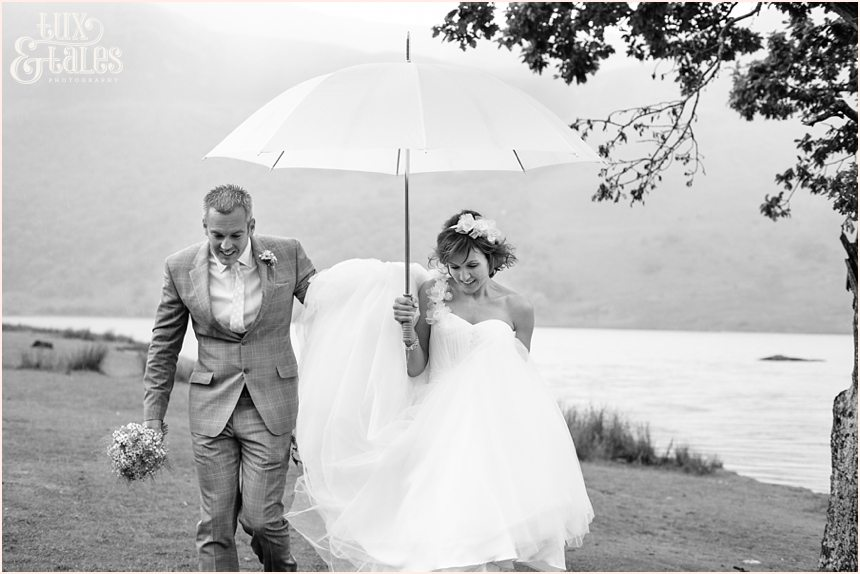 Rainy day wedding in the lake district