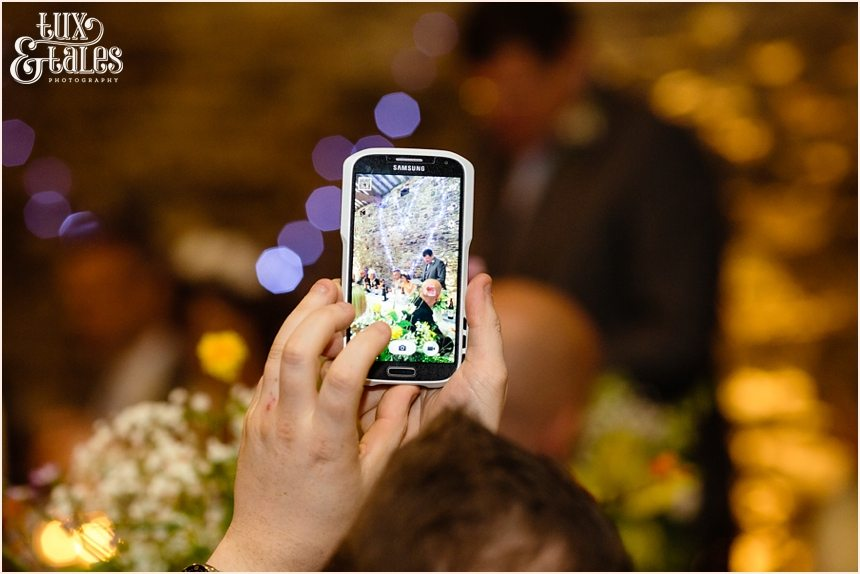 speeches caught on smart phone at barn wedding in the Lake District