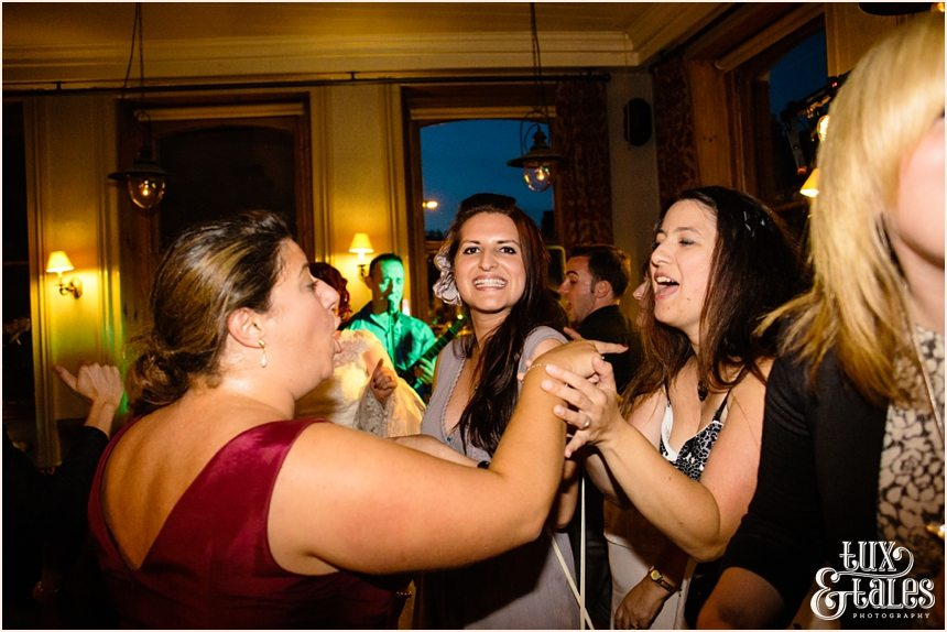 Funny girls at wedding party