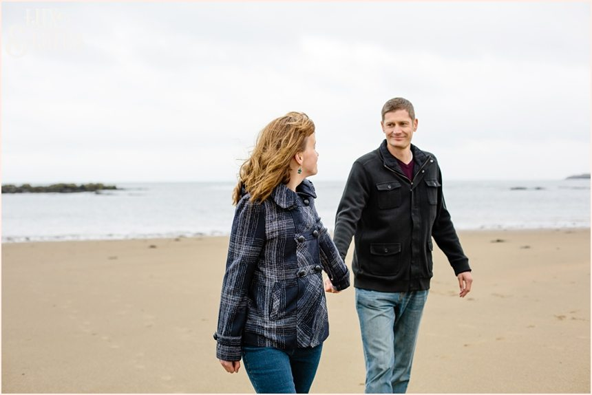 Scarborough engagement photography couple on the beach
