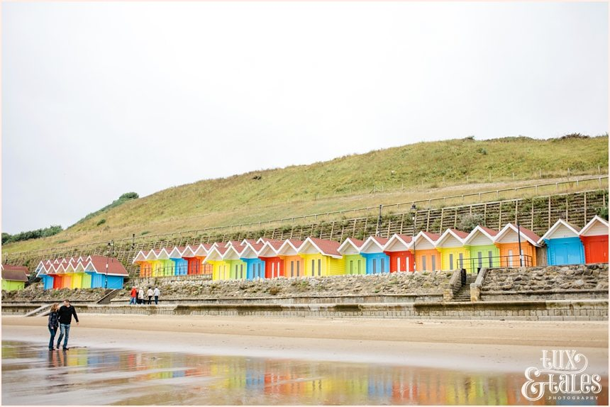 rainbow coloured beach huts scarborough photography
