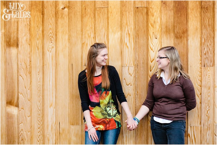 Civil partnership engagement shoot in York