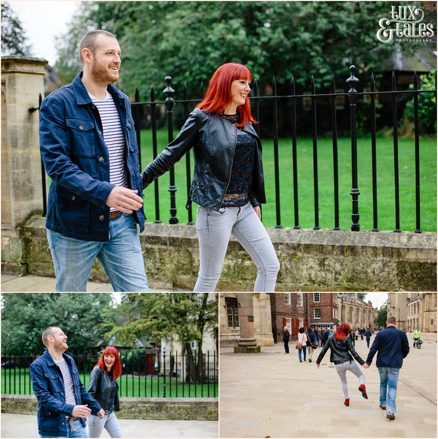 York Engagement shoot with Rock and Roll Couple