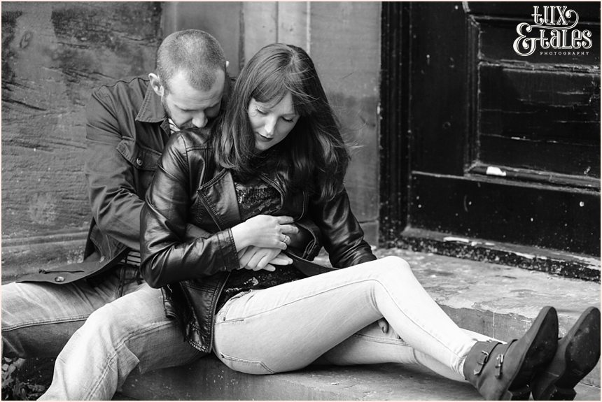 Rock and roll couple york engagement shoot