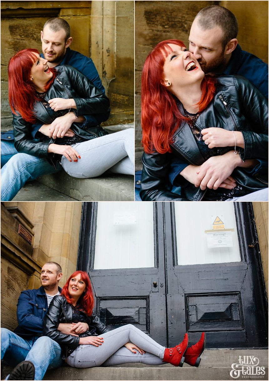 York engagement shoot rock and roll couple