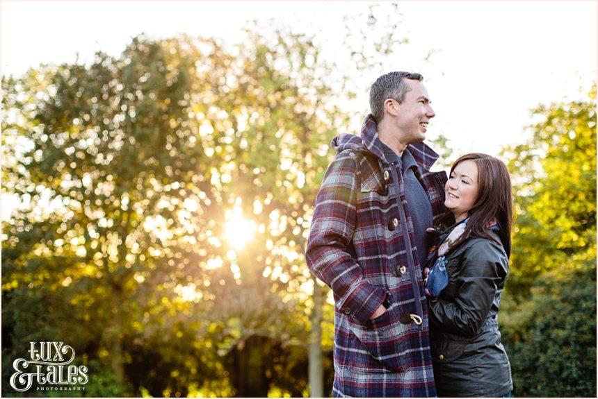 Cute autumn engagement shoot poses