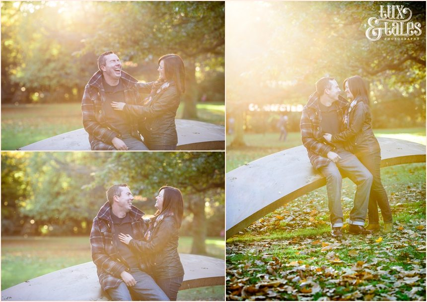 Autumn engagement shoot in York