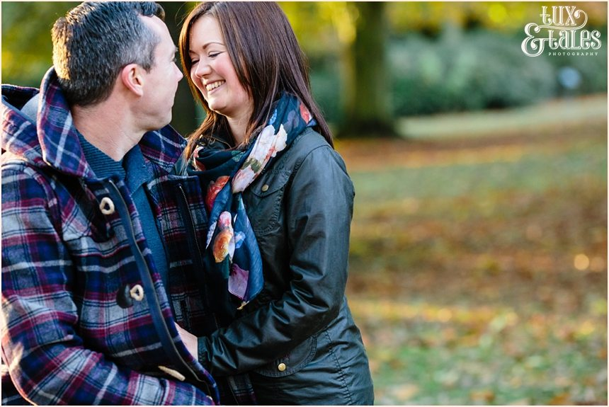 York engagement photography in Autumn