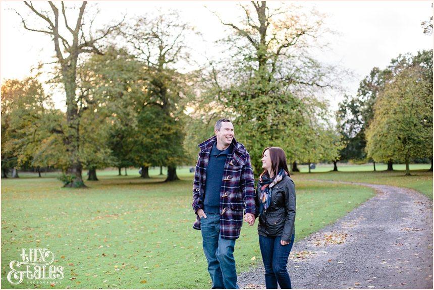 York autumn engagement shoot low light sunset
