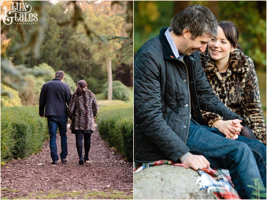 Elvaston castle engagement photographs couple in love