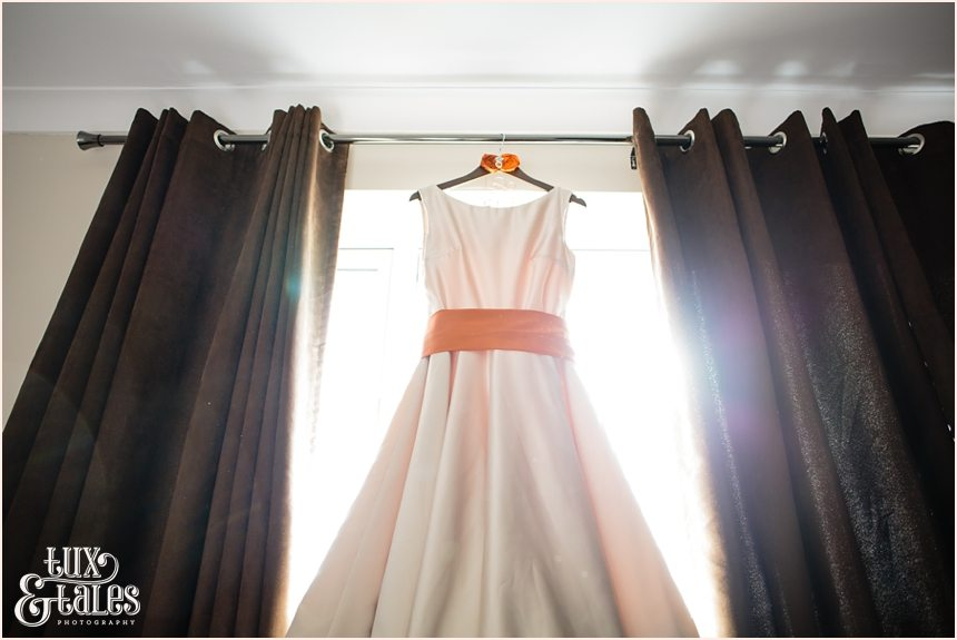 Autumn coloured wedding dress