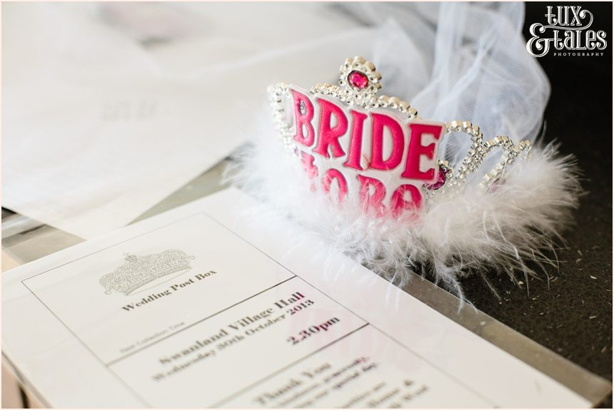 Bride to be crown at Hull wedding