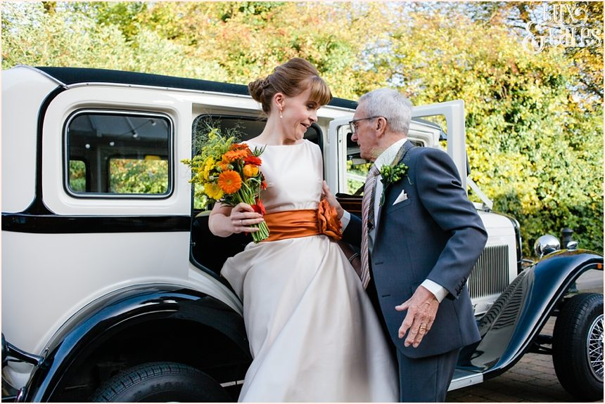 Autumn themed wedding details