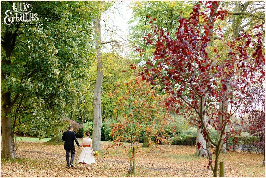 Yorkshire autumn themed wedding