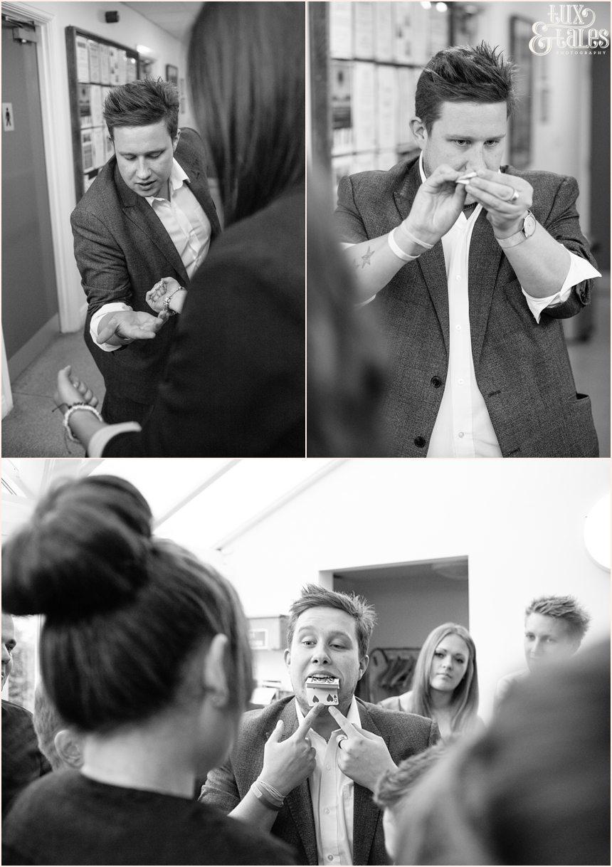 Mark waddington Wedding Magician at Autumn themed wedding in Yorkshire