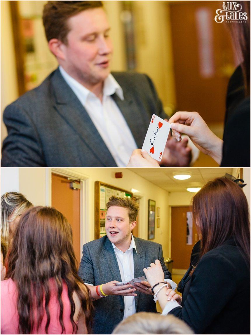 Mark Waddington Wedding Magician at Yorkshire Wedding