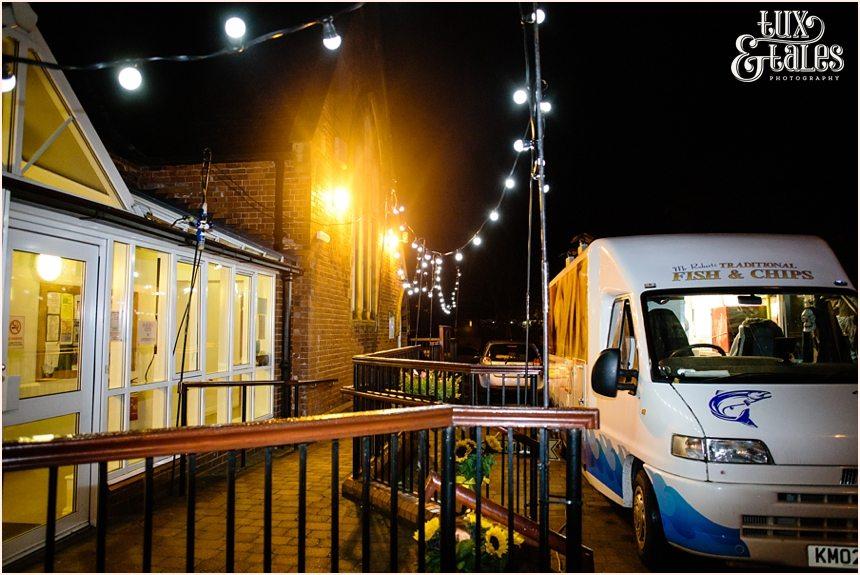 Fish and Chip van at yorkshire wedding