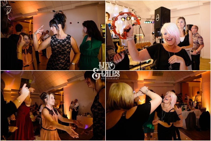Yorkshire wedding party photographs people dancing