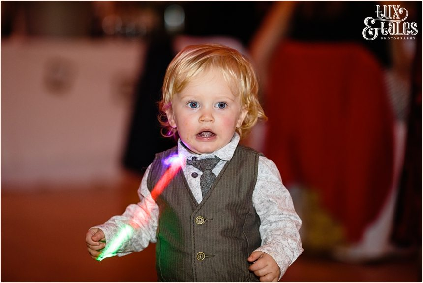 Little boy at Yorkshire wedding dance party