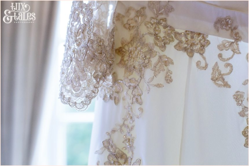 White plus sized wedding dress with lace details York
