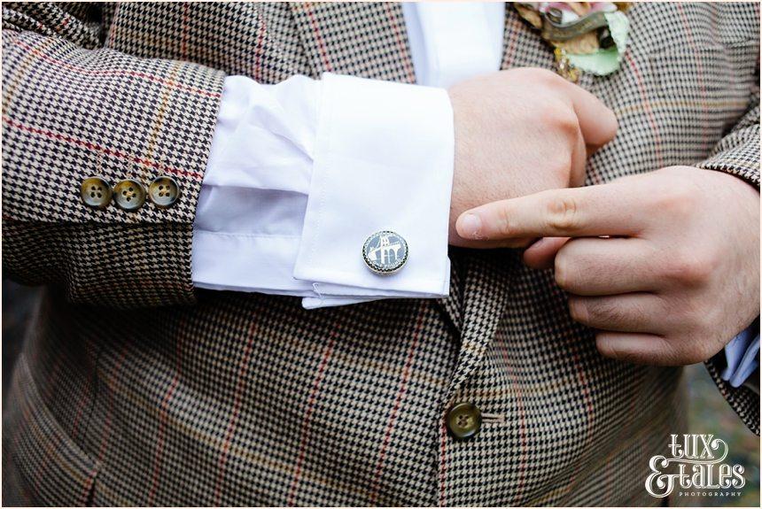 London Tower bridge cuff links at wedding in York