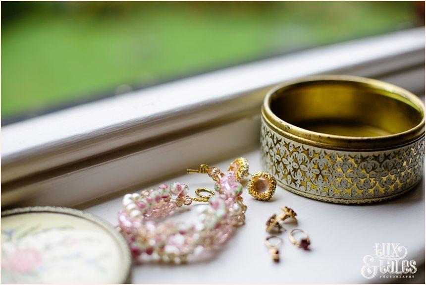 Brides vintage jewelry at York Wedding