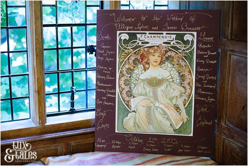 French poster at York wedding