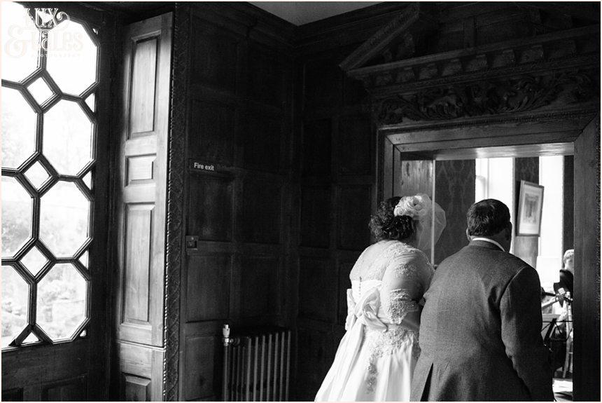 Bride entering at Gray's Court Wedding