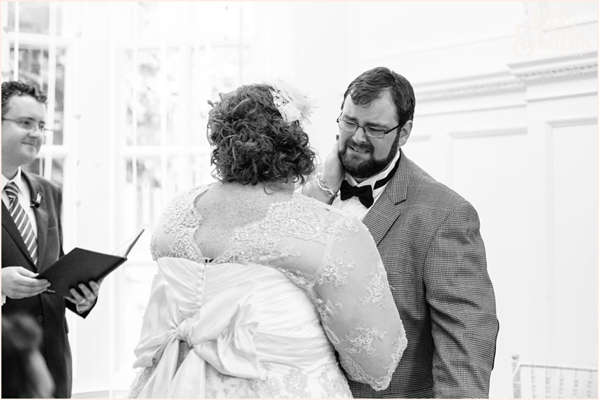Groom cires during grays court wedding ceremony long distance love