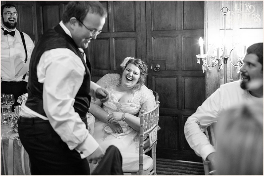 Bride has big laugh at York wedding