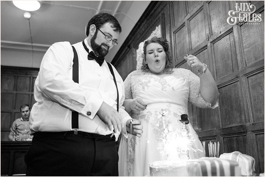 Bride burns fingers at wedding cake York