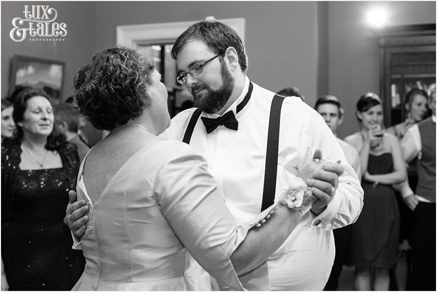Groom and mother dance at wedding in York