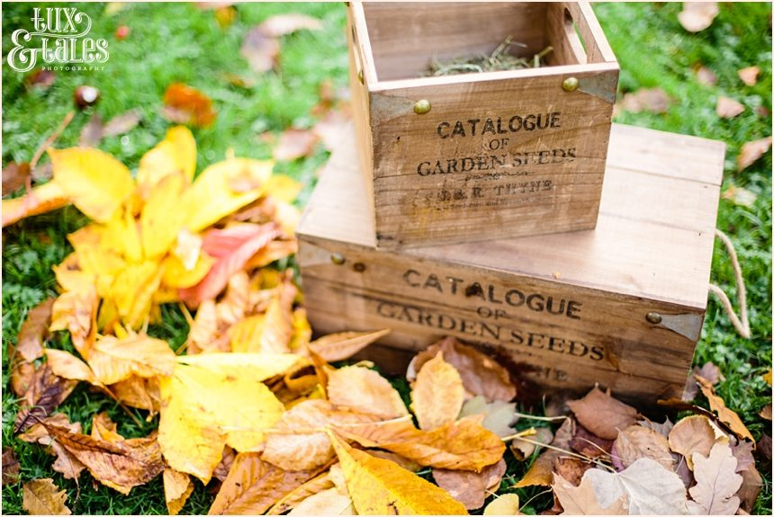 Wooden boxes engagement shoot yorksire