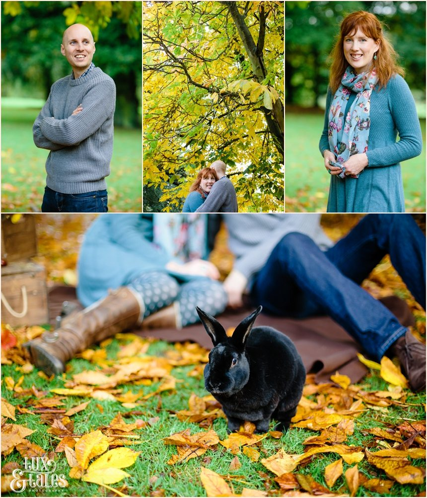 Autumn engagement shoot in Yorkshire