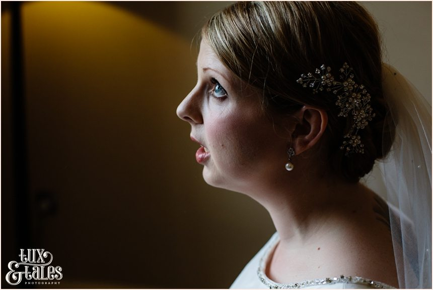 Blue eyed bride at cedar court grand hotel in York